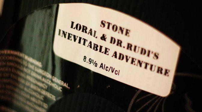 久々にストーンの限定!Inevitable Adventure Doubule IPA開栓!!
