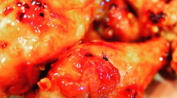 ピリ辛照り焼きチキンとヒナノ